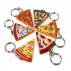 Pizza Shaped Keychains