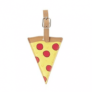 Pizza Shaped Luggage Tag