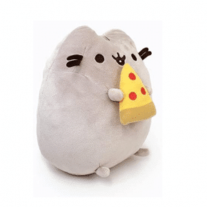 Pusheen Toy Holding Pizza