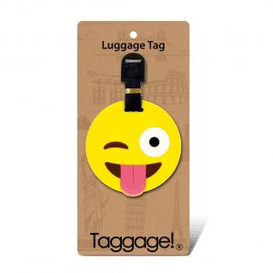 Taggage Emoji Winking Eye Luggage Tag