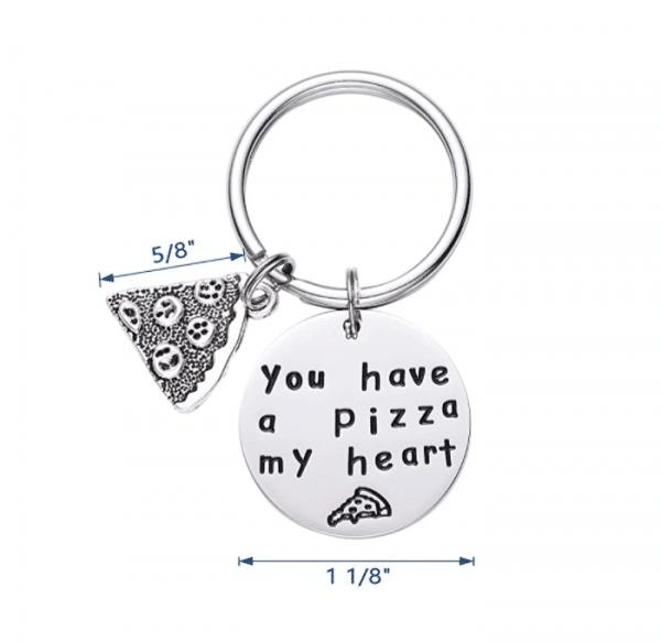 Unique Pizza My Heart Key Chain