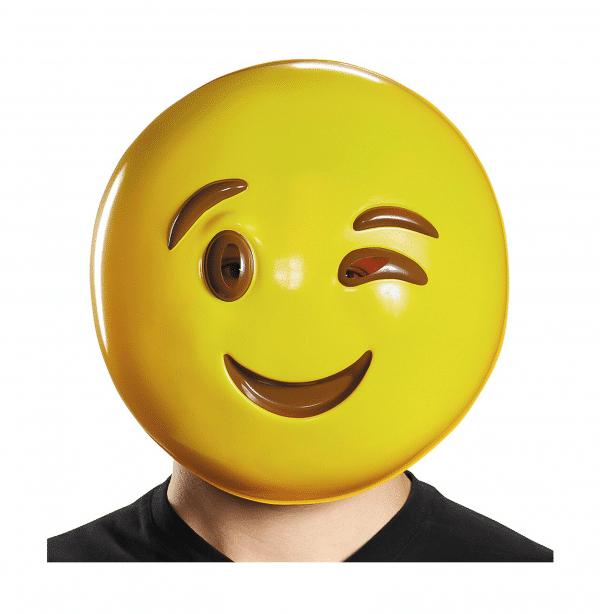 Wink Emoji Costume Mask