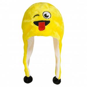 Wink Emoji Fun Beanie Cap