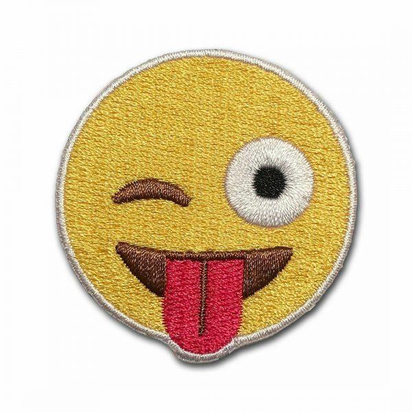 Wink Emoji Iron On Patch