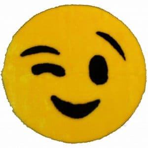 Wink Emoji Rug Mat