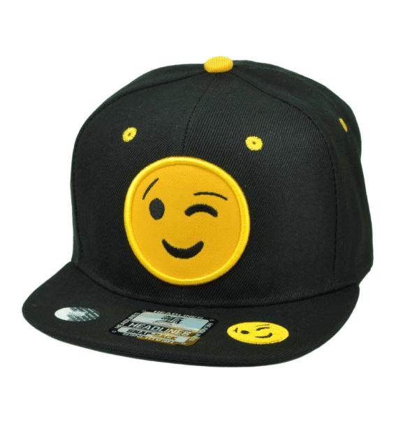 Wink Emoji Snapback Cap