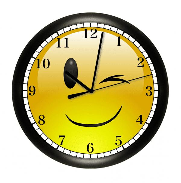 Wink Emoji Wall Clock