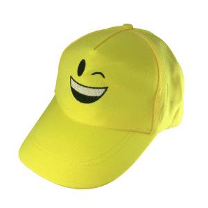 Wink Emoji Yellow Baseball Cap