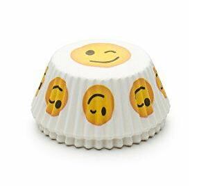 Wink Emoticon Bake Cup Set