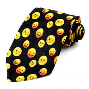 Wink Kiss and Smile Tongue Out Tie