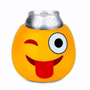 Wink Tongue Out Emoji Koozie