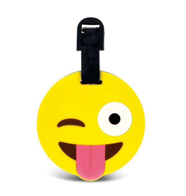 Winking Emoji Luggage Tag Labels
