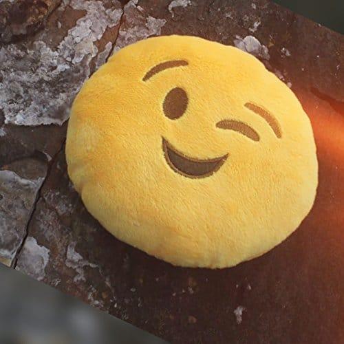 Winking Emoji Pillow Plush