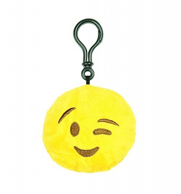Winking Emoji Plush Keychain