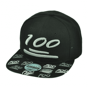 100 Emoji Black Snapback Cap
