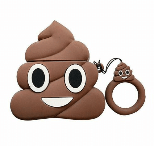 AirPod Case Emoji Poop Design