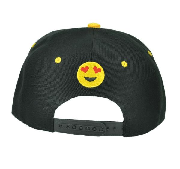 Back Side Emoji Heart Eyes Snapback Cap
