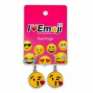 Blowing Kiss Emoji Earrings