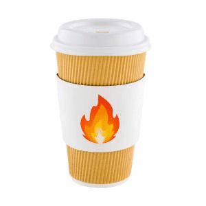 Coffee Cup Sleeve Flame Emoji
