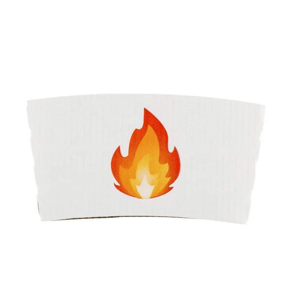 Coffee Sleeve Fire Emoji Print