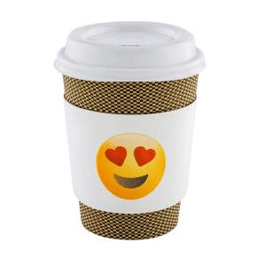 Coffee Sleeve Heart Eyes Emoji Print