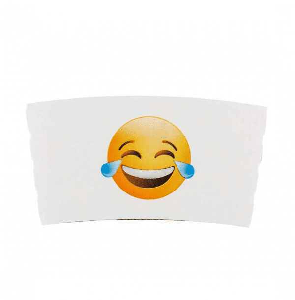 Coffee Sleeve Tears of Joy Emoji Print