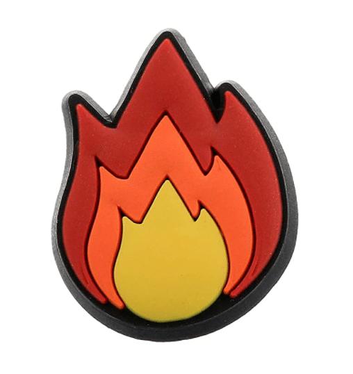 Crocs Shoe Charm Flame Emoji