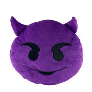 Devil Purple Emoji Pillow