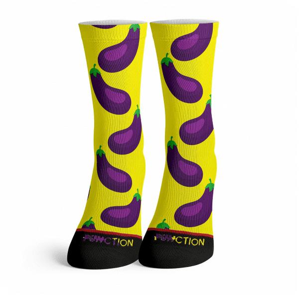 Eggplant Emoji Long Socks