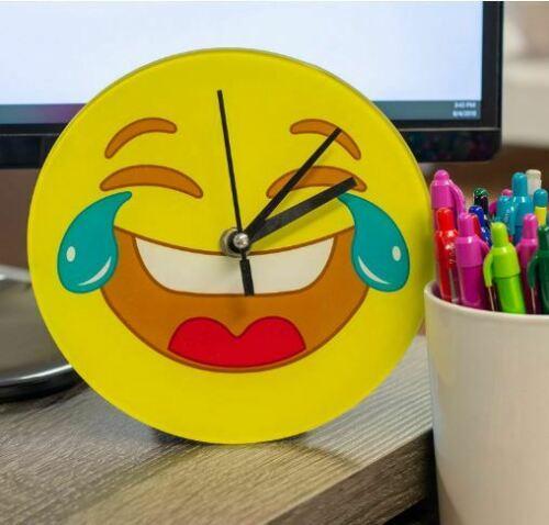 Emoticon Tears of Joy Desk Clock