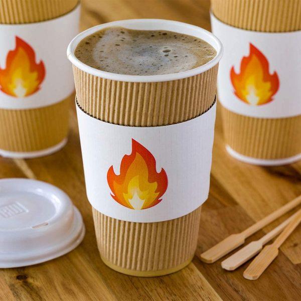 Fire Emoji Coffee Cup Sleeve