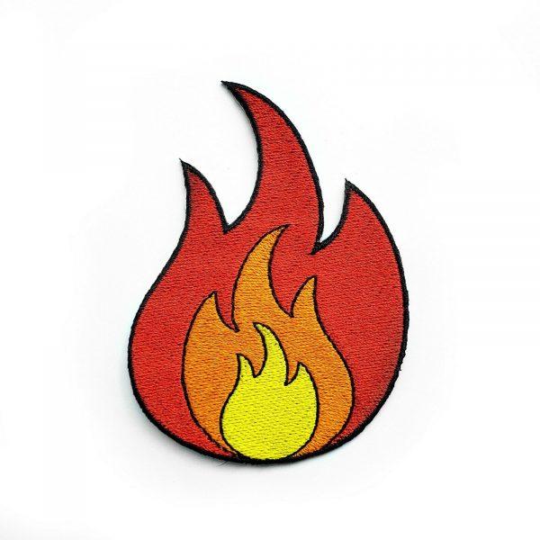 Fire Emoji Iron Sew Patch