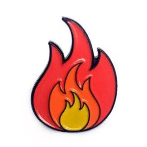 Fire Emoji Lapel Pin