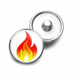 Flame Emoji Charm Button