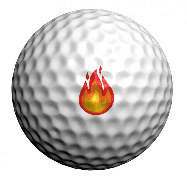 Flame Emoji Golf Ball Dotz