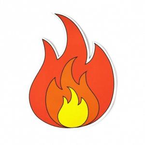 Flame Emoji Magnet
