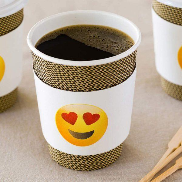 Heart Eyes Emoji Coffee Cup Sleeve
