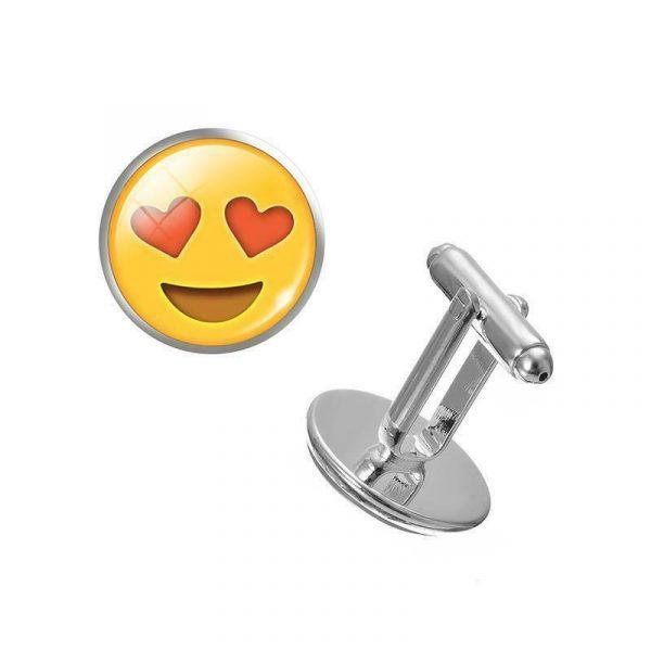 Heart Eyes Emoji Cufflinks