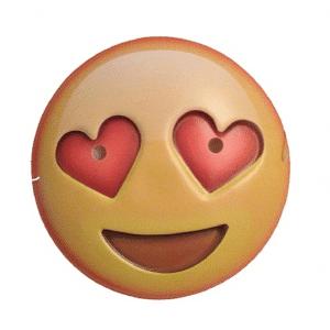 Heart Eyes Emoji Face Mask