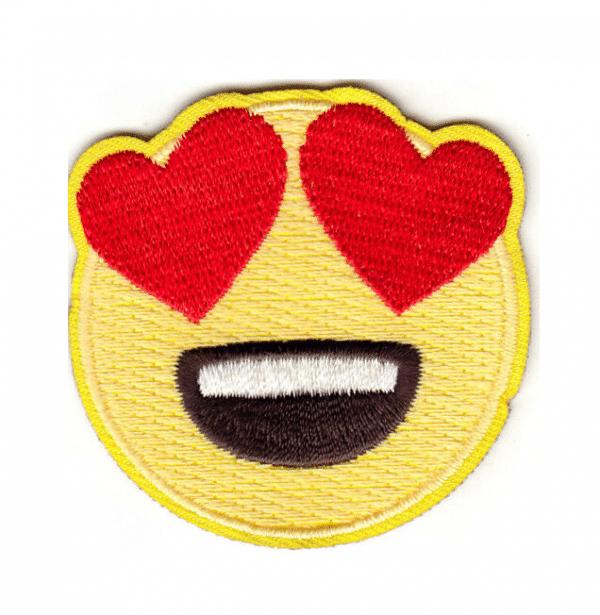Heart Eyes Emoji Iron Patch