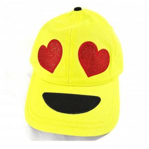 Heart Eyes Yellow Baseball Cap