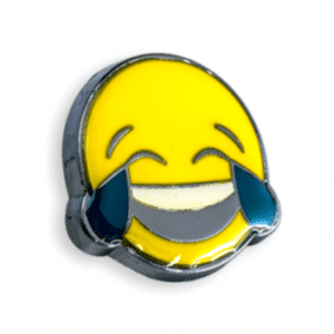 Laughing Crying Emoticon Lapel Pin