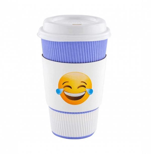Laughing Tears Emoji Coffee Cup Sleeve