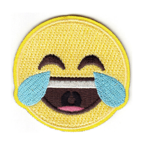 Laughing Tears Emoji Iron On Patch