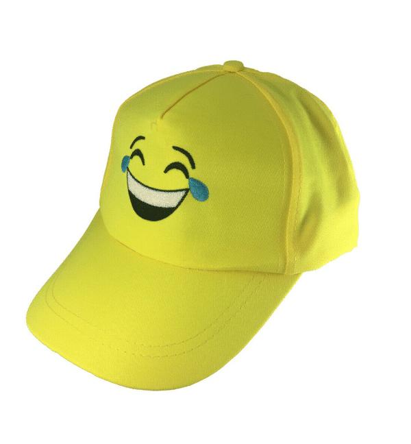 Laughing Tears Emoji Yellow Baseball Cap