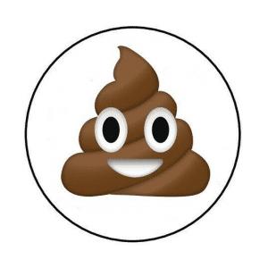 Poop Emoji Envelope Seals