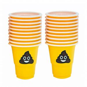 Poop Emoji Shot Cups