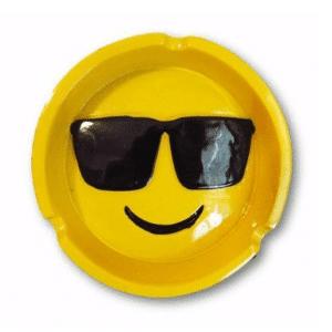 Smiling Sunglasses Emoji Ashtray