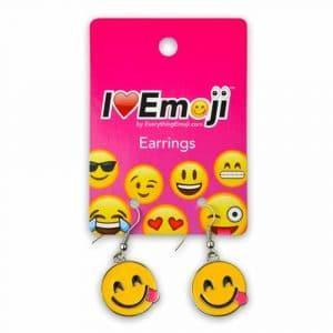 Smiling Tongue Out Emoji Earrings