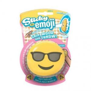 Sticky Smiling Sunglasses Emoji Splat Toy